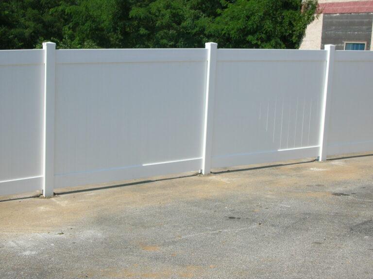 Vinyl Panel white Fence