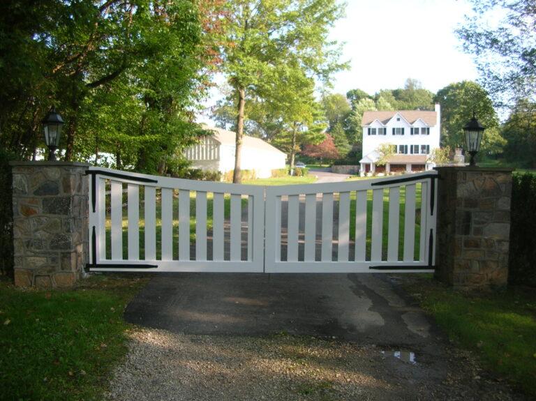 White Vinyl Gate