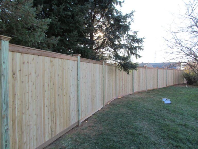 Panel Fence in backyard