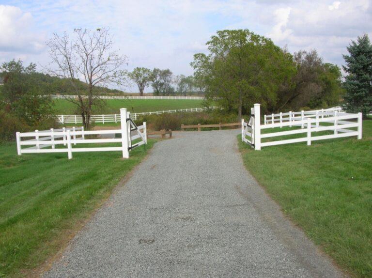 Open white gate