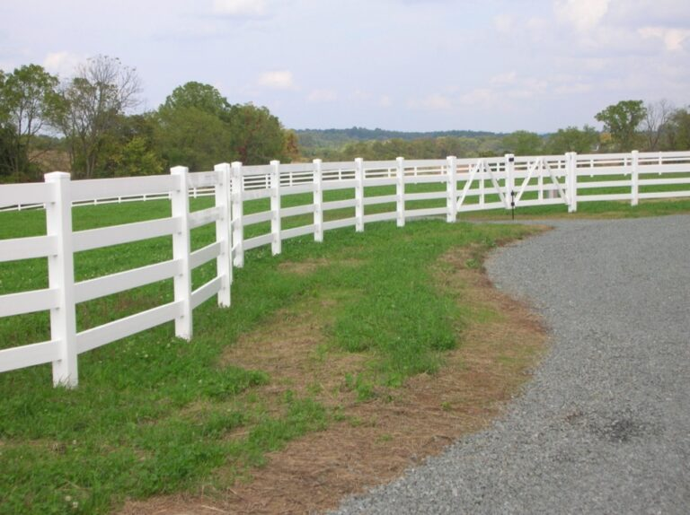 White Fence in meadow