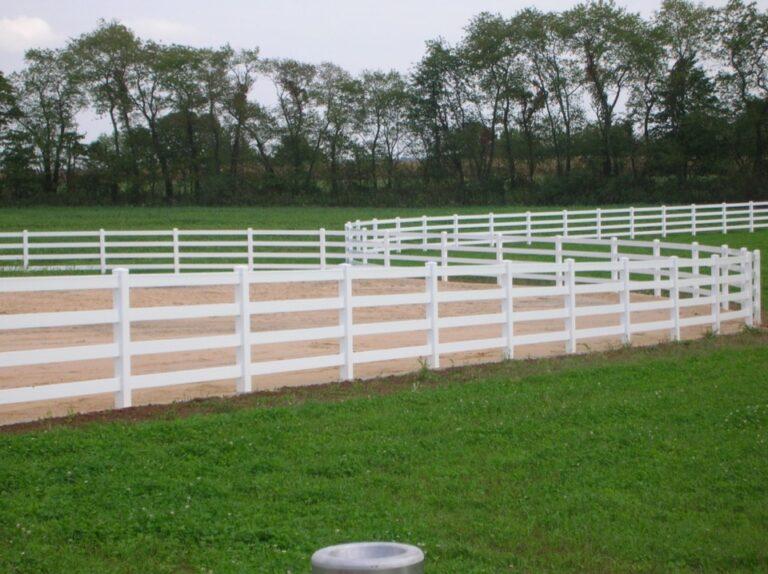 White Vinyl horse fence