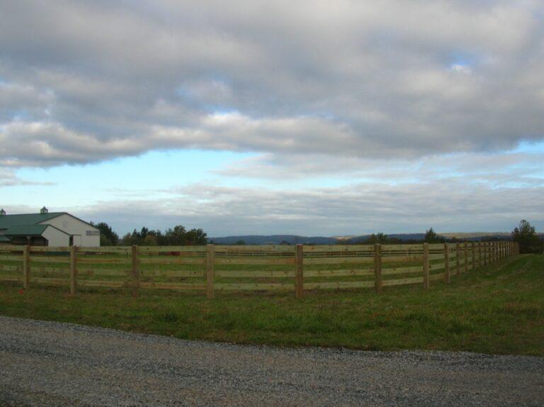 Gorgeous rail horse fence