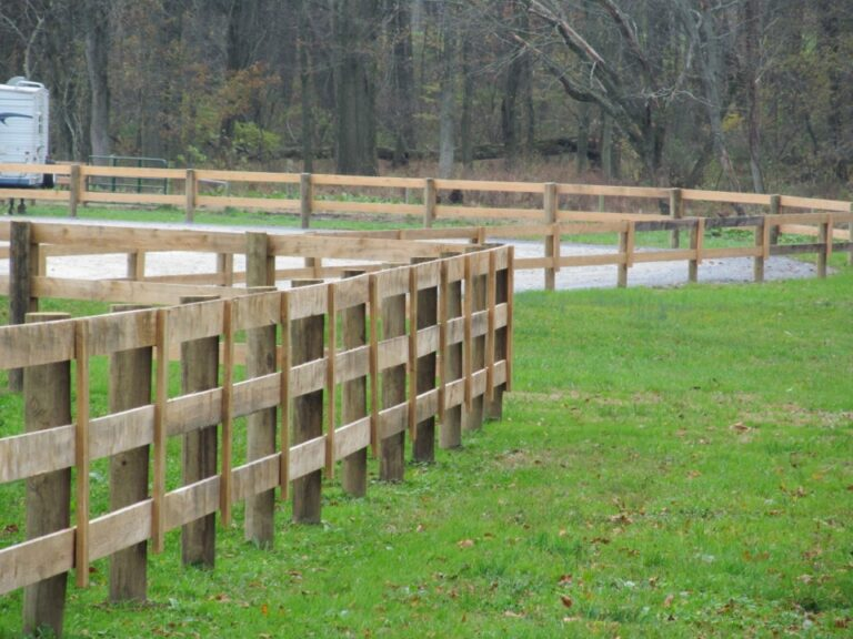 close up of rail fence