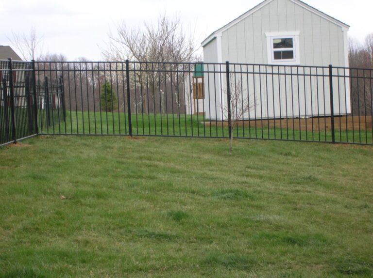 Black Metal yard fence