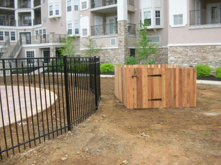 Wooden AC unit Fence