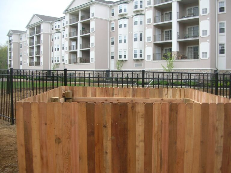Close up of AC fence