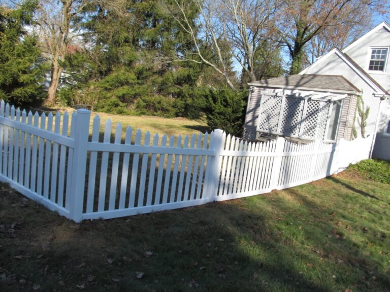 White Picket Fence on angle