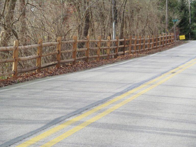 Rail Fence along road