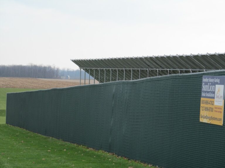 Chain Fence with partial fence