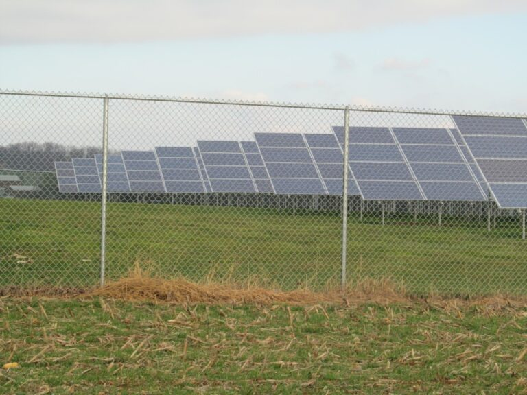 Solar Panel with fence
