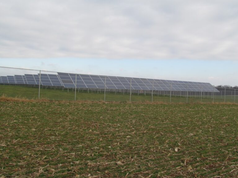 Solar panel Chain fence