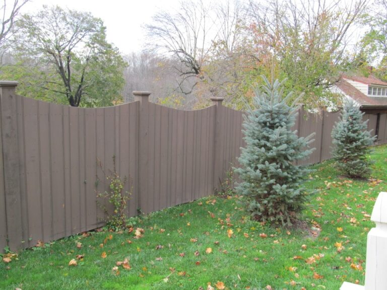 Wooden Panel Fence stained