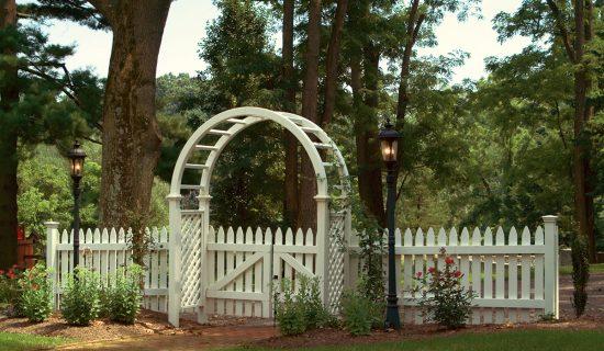 Garden Gate with white arch